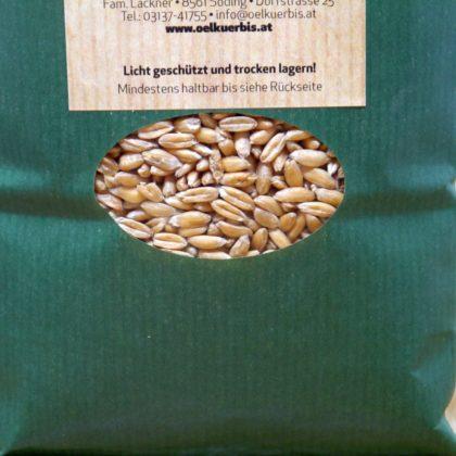 Dinkel Korn im Beutel