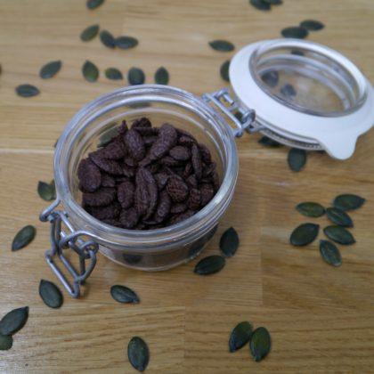 Kürbiskerne Schokolade im Glas