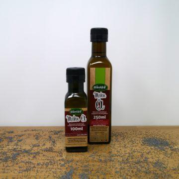 Mohnöl in Flaschen